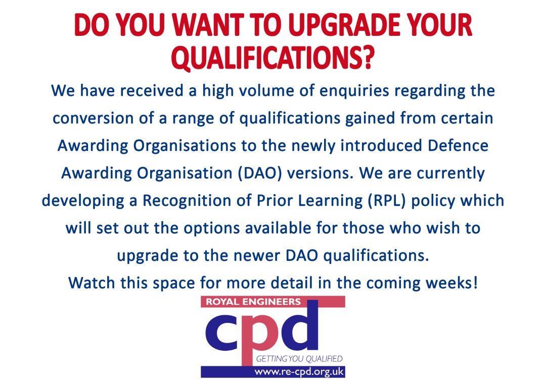 DO YOU WANT TO UPGRADE YOUR QUALIFICATIONS?