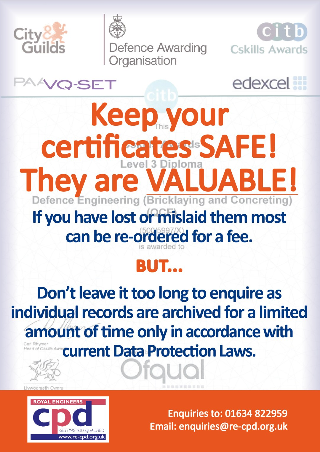Your Certificates Are Valuable!