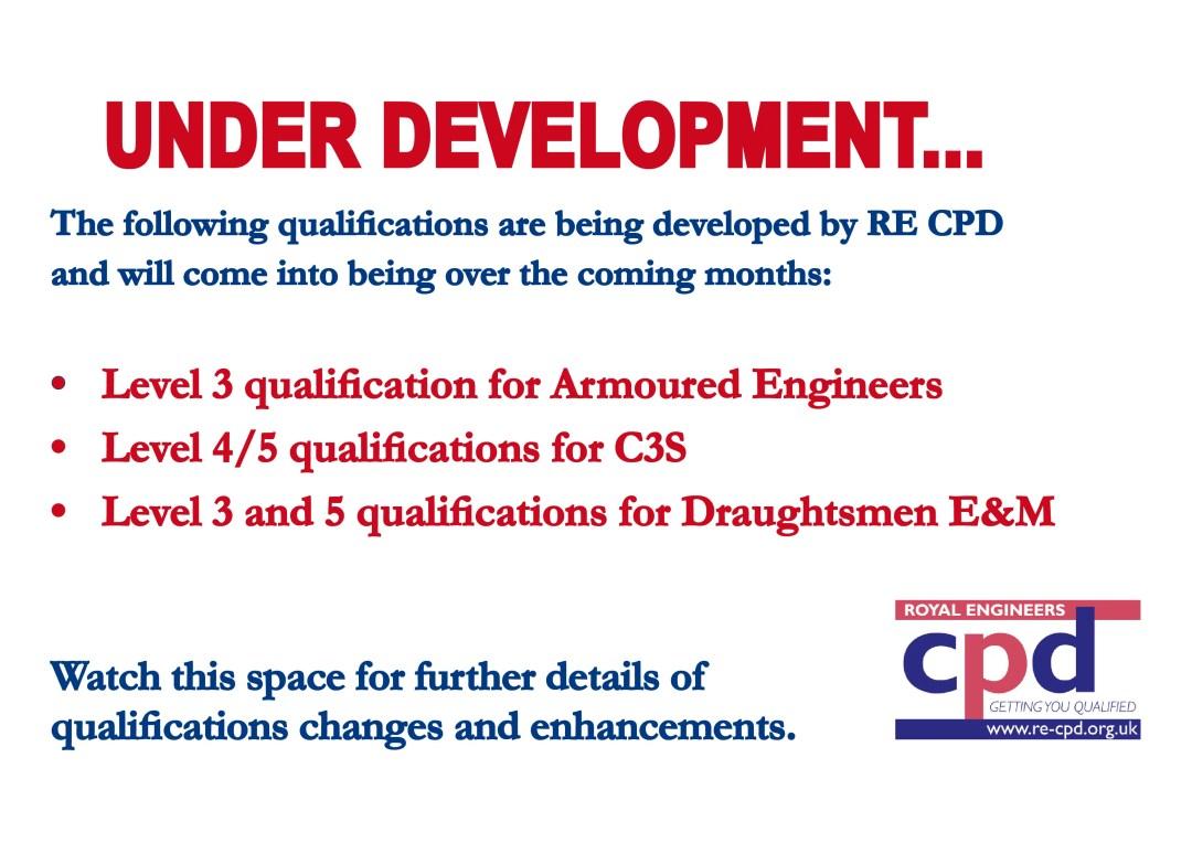 Qualifications Under Development
