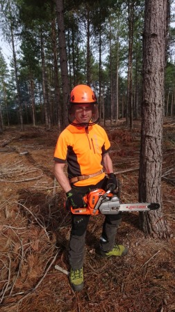 Cpl Roberts Gains Tree Felling Award