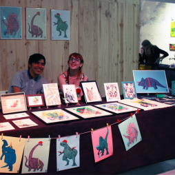 Artistic posters from exhibitors