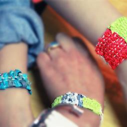 Our colourful Plastex bracelets