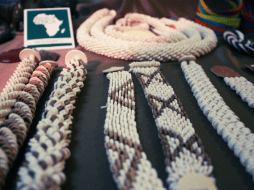 Only if you can guess what these bracelets are made of .. We found it stunning! by Seeds of Africa - Mozambica
