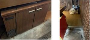 台下冷蔵庫とカウンター幅
