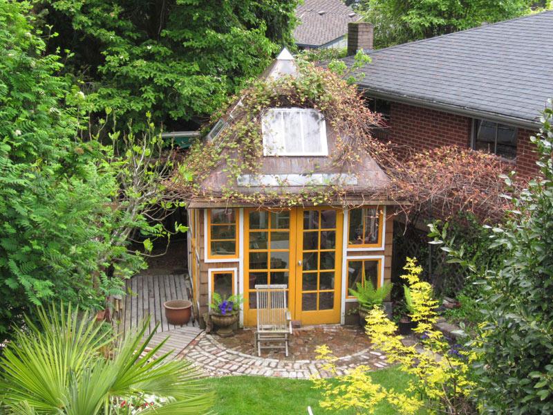 How Build Garden Shed Old Doors
