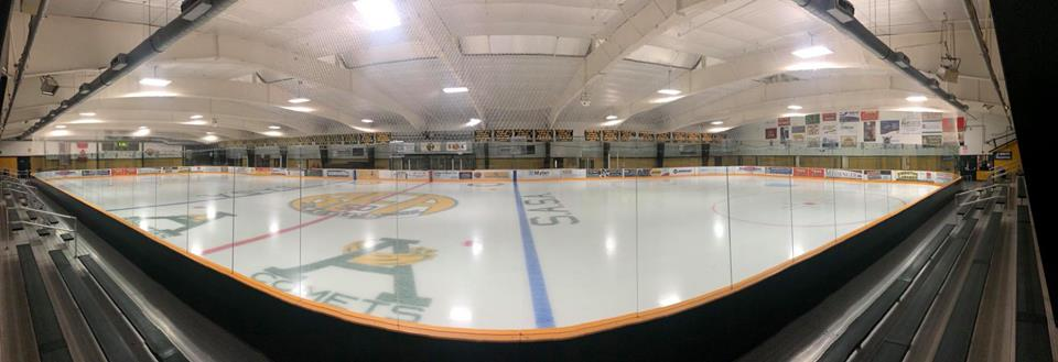 The indoor ice arena at Collins Perley Sports & Fitness Center in St. Albans, VT
