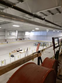 Under construction - The West Rink at the Wellesley Sports Center