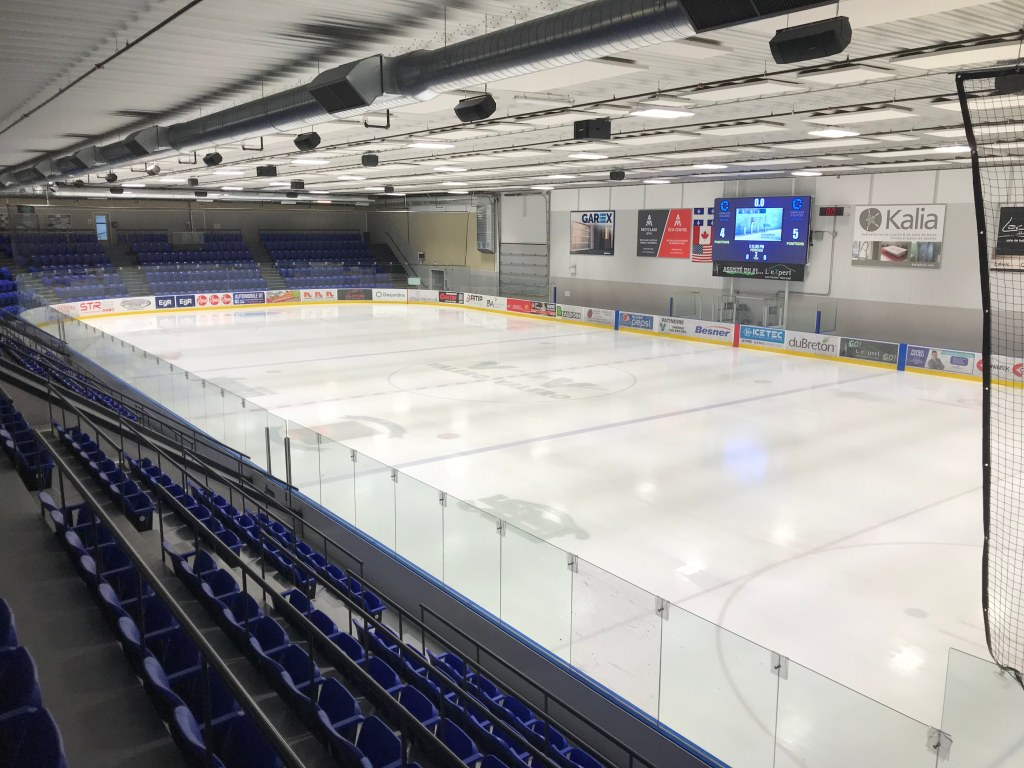 One of two arenas at the Complexe