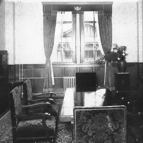昭和天皇の僥倖時に使われた2階の貴賓室