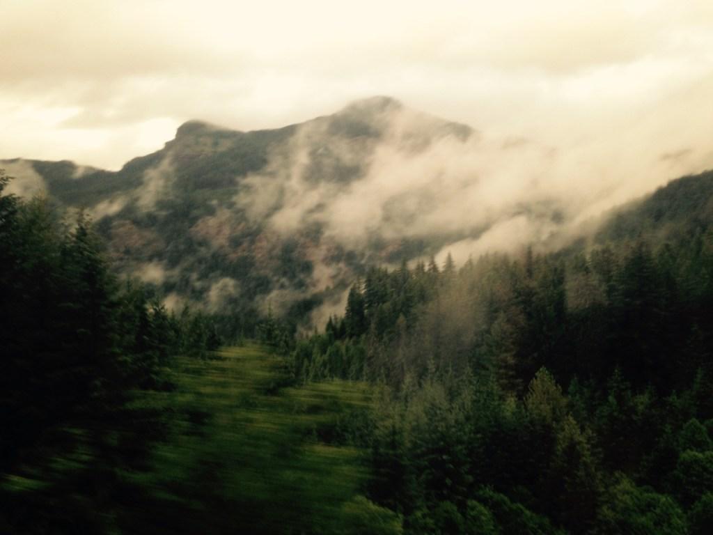 Cascades from Coast Starlight