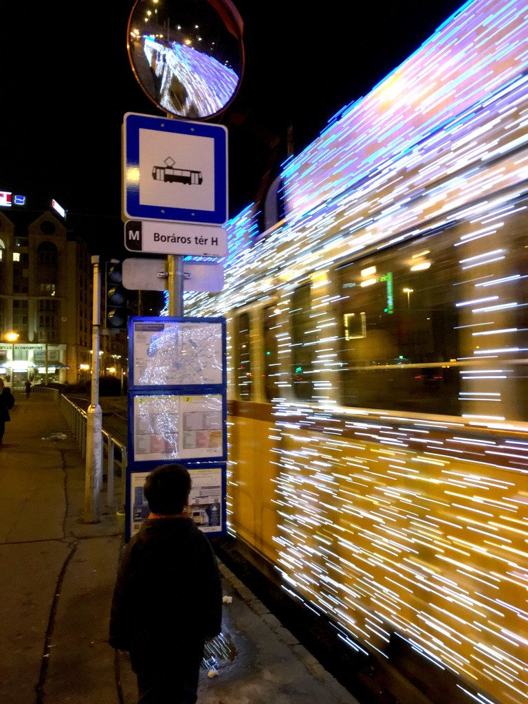 trolley with lights