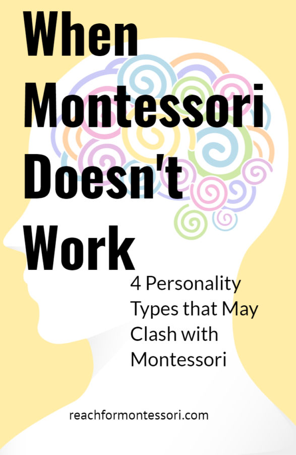 When Montessori Doesn't Work pinterest image.