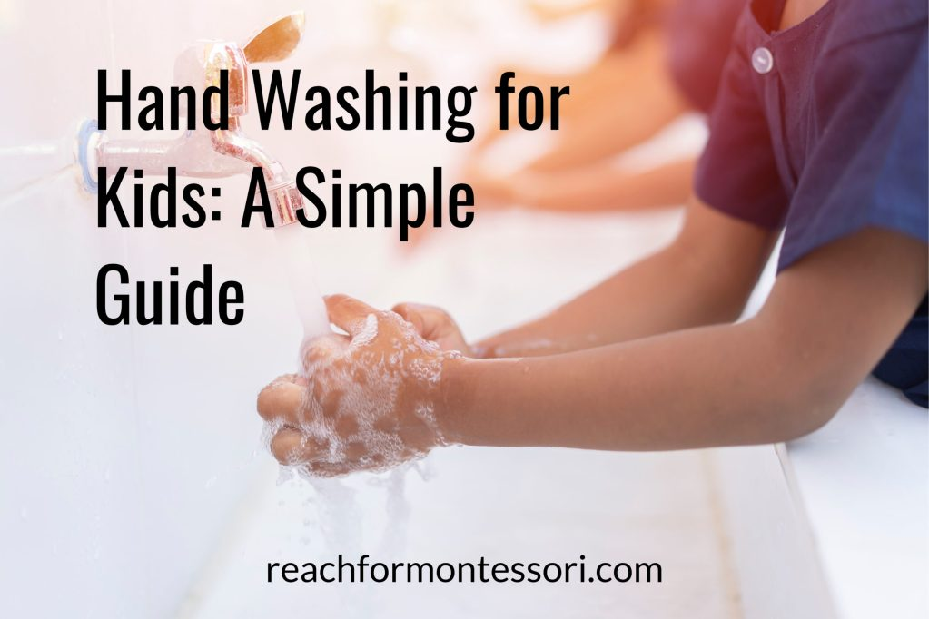 Hand washing for kids graphic