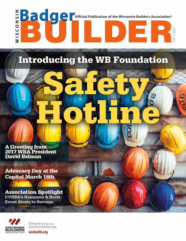 Wisconsin Badger Builder Magazine Cover