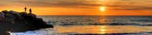 sunset, ocean, adventure