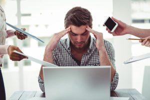 stress, busy, workplace