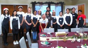Our helpers from Valley Christian School