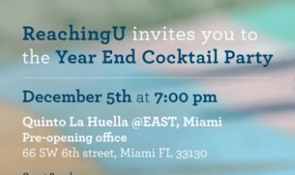 Year End Cocktail Party: Quinto La Huella, Miami. December 5, 2015