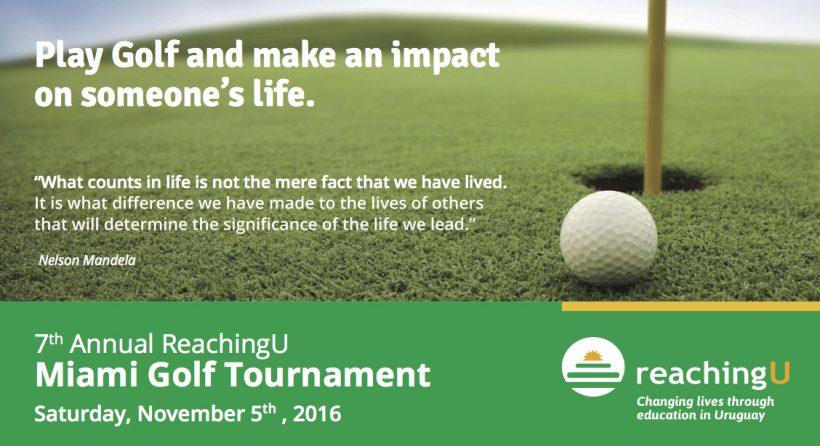 7º Torneo de Golf Anual de Reaching U en Miami: sábado 5 de noviembre de 2016