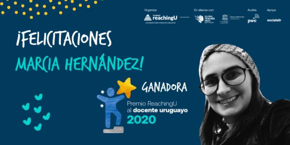 La maestra Marcia Hernández es la ganadora del Premio ReachingU al Docente Uruguayo 2020
