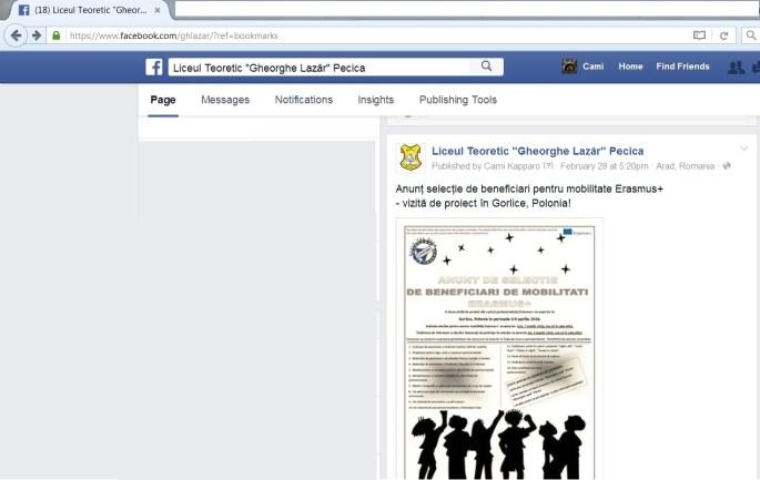 anunt facebook