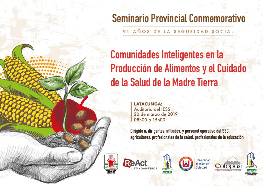"""Seminario Taller Provincial """"Comunidades Inteligentes en la Producción de Alimentos y el Cuidado de la Salud de la Madre Tierra"""""""