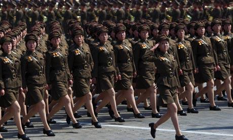De fanclub van Kim Jong-un op de jaarlijkse fandag.