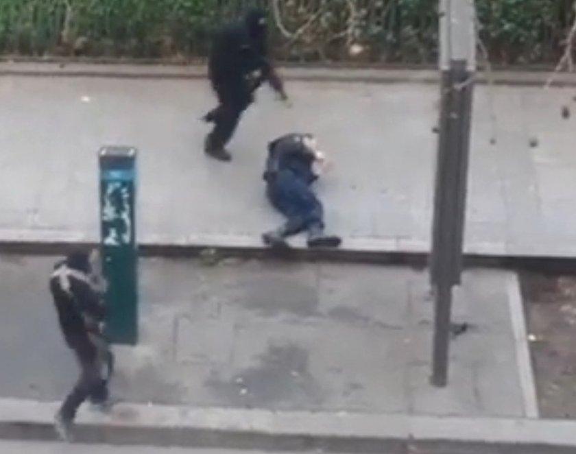 Executie agent Parijs Charlie Hebdo 2