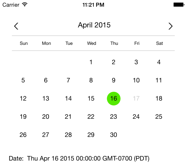 React Input Calendar