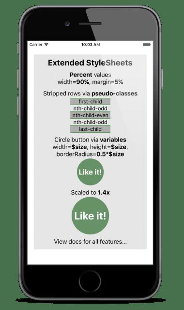 React Native Extended StyleSheet