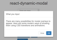 Dynamic Modal Dialog Component For React