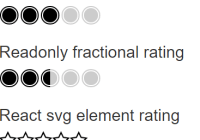 Rating React Component With Custom Symbols