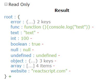 React Editable JSON Tree Component | Reactscript