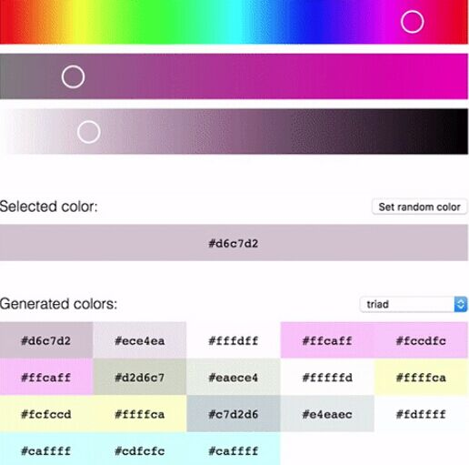 React And React Native Harmonious Color Generator