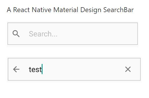 RunKit + npm: react-native-material-design-searchbar