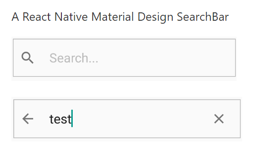 React Native Material Design Searchbar