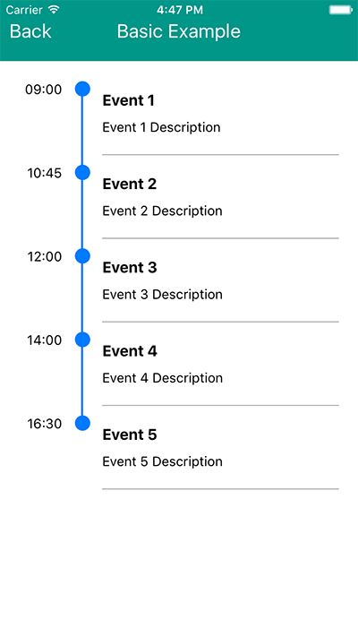 React Native Timeline Listview