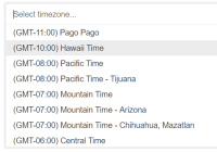 Timezone Picker For React-Bootstrap