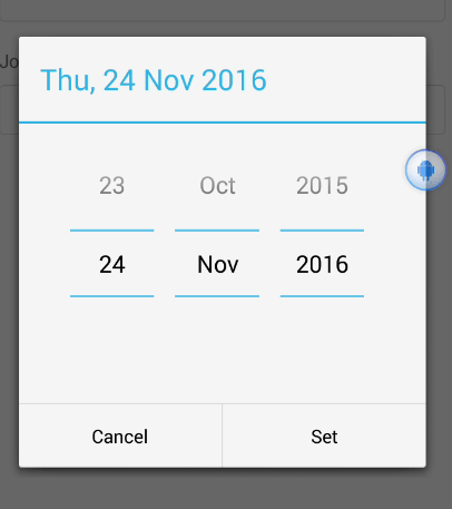 React Native Date Picker Dialog