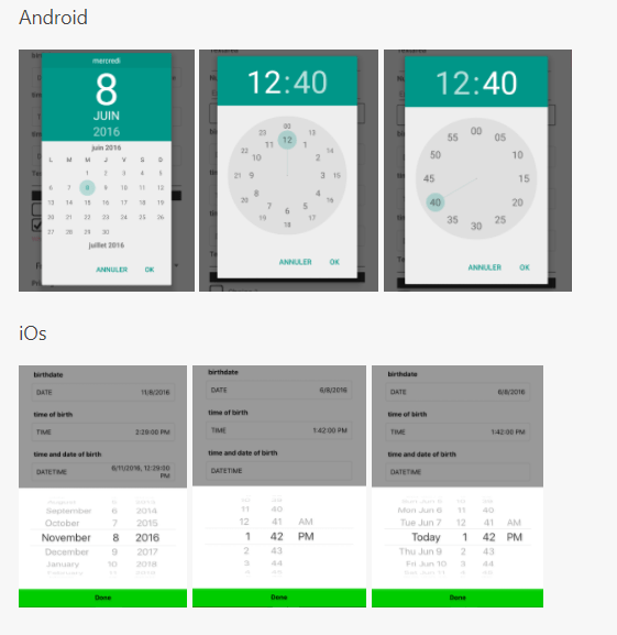 DateTime Picker For Android and iOS