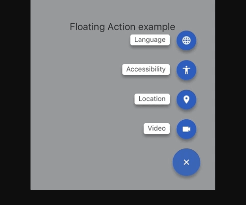 Material Floating Buttons For React Native | Reactscript