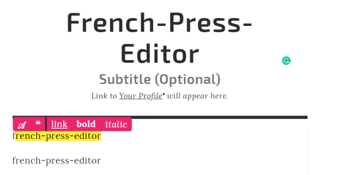 french-press-editor