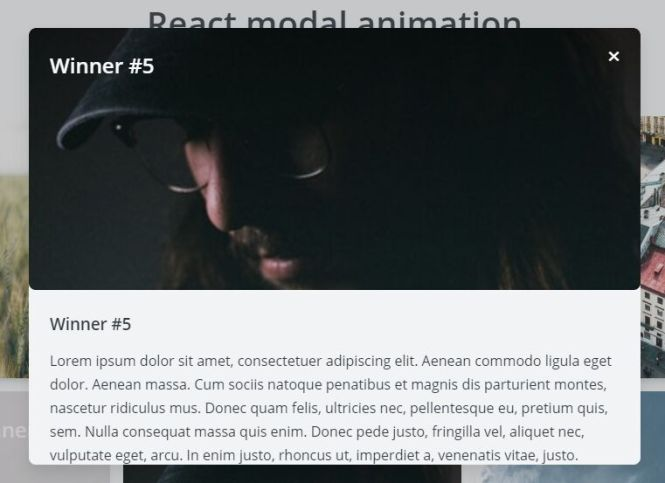 React Modal Animation