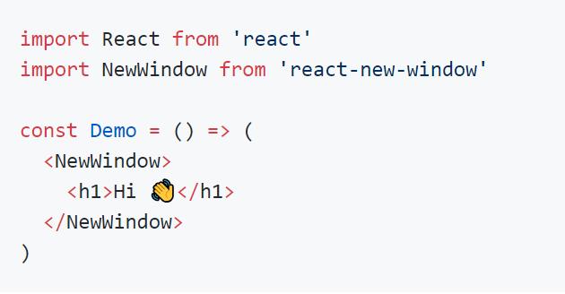 Pop New Windows In React