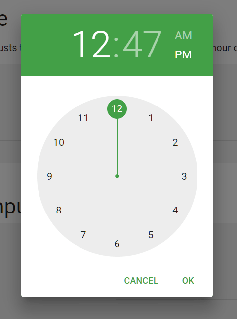 material-ui-pickers Time Picker