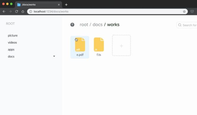 File System In Web Using React