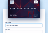 Interactive Credit Card Form - react-interactive-paycard