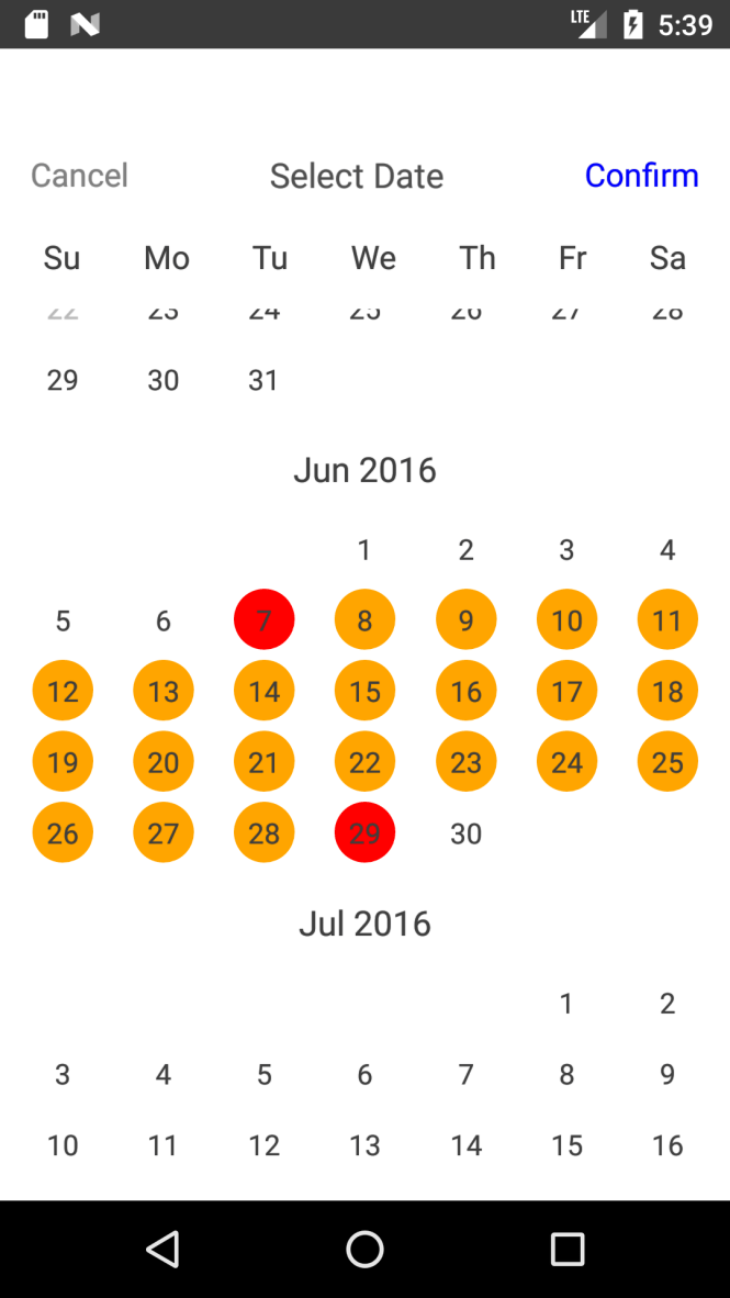 Common Date Picker & Calendar Component For React Native