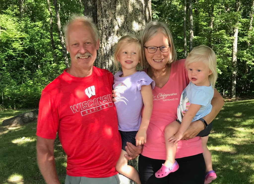 Darlene, her husband and 2 granddaughters.