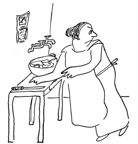 One night while doing the dishes . . .